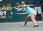 Madison Keys (USA) loses to Angelique Kerber the final at Family Circle Cup in Charleston, South Carolina on April 12, 2015.
