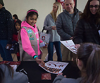 Stanford, CA - February 9, 2020: Fans, Women's Gymnastics at Maples Pavilion. Stanford Women's Basketball defeated the USC Trojans 79-59 on their Senior Night and celebration of National Girls and Women in Sports Day.