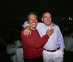 PAOLO LIGUORI CON ROBERTO BRIGLIA<br /> FESTA PER I 60 ANNI DI MAURIZIO COSTANZO<br /> MANEGGIO DI GIANNELLA  1998