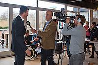09-01-14, Netherlands, Rotterdam, TC Kralingen, ABNAMROWTT Press-conference,  Richard Krajicek for TV Rijnmond<br /> Photo: Henk Koster