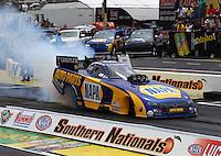 May 17, 2015; Commerce, GA, USA; NHRA funny car driver Ron Capps during the Southern Nationals at Atlanta Dragway. Mandatory Credit: Mark J. Rebilas-USA TODAY Sports
