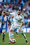 Karim Benzema of Real Madrid in action during the La Liga 2017-18 match between Real Madrid and RC Deportivo La Coruna at Santiago Bernabeu Stadium on January 21 2018 in Madrid, Spain. Photo by Diego Gonzalez / Power Sport Images