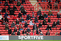 Charlton fans wearing their masks and social distancing in the main stand during Charlton Athletic vs AFC Wimbledon, Sky Bet EFL League 1 Football at The Valley on 12th December 2020