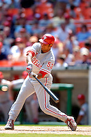 4 September 2005: Bobby Abreu, outfielder for the Philadelphia Phillies, at bat against the Washington Nationals. The Nationals defeated the Phillies 6-1 at RFK Stadium in Washington, DC. Mandatory Photo Credit: Ed Wolfstein.
