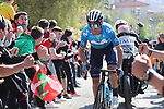 Alejandro Valverde (ESP) Movistar Team attacks during the Gran Premio Miguel Indurain 2021, running 203.2km from Estella to Lizarra, Spain. 3rd April 2021.  <br /> Picture: Luis Angel Gomez/Photogomezsport | Cyclefile<br /> <br /> All photos usage must carry mandatory copyright credit (© Cyclefile | Luis Angel Gomez/Photogomezsport)