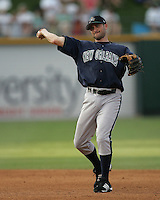 New Orleans Zephyrs David Newhan during the 2007 Pacific Coast League Season. Photo by Andrew Woolley/ Four Seam Images.