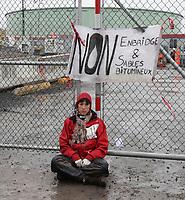 Montreal, CANADA - File - anti-Suncor protest, Oct 7, 2014.