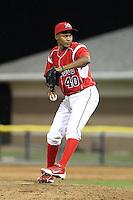 Batavia Muckdogs pitcher Yunier Castillo #40 during a game against the Auburn Doubledays at Dwyer Stadium on June 20, 2012 in Batavia, New York.  Batavia defeated Auburn 9-3.  (Mike Janes/Four Seam Images)