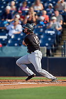 Jupiter Hammerheads Harrison Dinicola (12) at bat during a Florida State League game against the Tampa Tarpons on July 26, 2019 at George M. Steinbrenner Field in Tampa, Florida.  Tampa defeated Jupiter 2-0 in the first game of a doubleheader.  (Mike Janes/Four Seam Images)