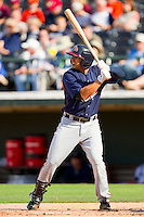 Christian Marrero #33 of the Gwinnett Braves at bat against the Charlotte Knights at Knights Stadium on June 3, 2012 in Fort Mill, South Carolina.  The Braves defeated the Knights 5-1.  (Brian Westerholt/Four Seam Images)