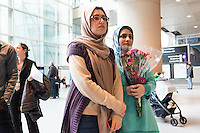 Logan Airport - Terminal E - Lufthansa flight arrives with people after Muslim Travel Ban temporaril
