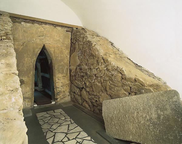 BULGARIA. SOFIA. Kazanlak. Thracian Tomb of Kazanlak (2nd c. BC). Burial chamber. Thracian art.