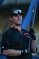 Adam Dunn of the Cincinnati Reds during a 2003 season MLB game at Dodger Stadium in Los Angeles, California. (Larry Goren/Four Seam Images)