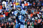 Face-Off Classic:  Midfielder Greg McBride #3 of the North Carolina Tar Heels passes during the Princeton v North Carolina mens lacrosse game at M&T Bank Stadium on March 10, 2012 in Baltimore, Maryland. (Ryan Lasek/Eclipse Sportswire)