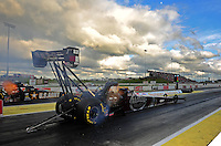 May 20, 2011; Topeka, KS, USA: NHRA top fuel dragster driver Larry Dixon during qualifying for the Summer Nationals at Heartland Park Topeka. Mandatory Credit: Mark J. Rebilas-