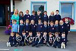 Junior Infants on their first day of scool in Faha NS on Monday Back Row left-right<br /> <br /> Class Teacher Ms Louise O'Shea, Aoibhínn Curran, Freya McCarthy, Aiden Healy, Jake Lyttle, Nessa McCarthy, Fabien Reen-Cronin & Donnchadh Tagney.<br /> <br />  <br /> <br /> Middle Row left – right<br /> <br /> Oisín McCarthy, Amber Hickey, Phoebe Reen-Cronin, Mia Foley, Páidí Mannix, Robyn O'Sullivan, Oisín O'Donoghue, Sadie O' Mahony, Kayleigh O'Sullivan & Oliver Griffin.<br /> <br />  <br /> <br /> Front Row left – right<br /> <br /> Lexi O' Sullivan, Elyas Renaudin, Cathal Kelly, JJ O'Shea, TJ Ryan, Cian O' Regan Spellman, Matthew Blennerhassett, Tom O'Regan & Ethan Madden.