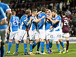 Hearts v St Johnstone…05.11.16  Tynecastle   SPFL<br />Chris Kane celebrates his goal<br />Picture by Graeme Hart.<br />Copyright Perthshire Picture Agency<br />Tel: 01738 623350  Mobile: 07990 594431