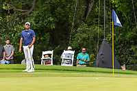 30th May 2021; Fort Worth, Texas, USA;  Sebastian Munoz reacts after leaving his birdie put short on #11 during the final round of the Charles Schwab Challenge on May 30, 2021 at Colonial Country Club in Fort Worth, TX.