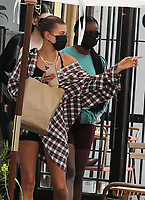 WEST HOLLYWOOD, CA - SEPTEMBER 9: Kendall Jenner and Hailey Bieber seen out for lunch in West Hollywood, California on September 9, 2020. <br /> CAP/MPI99<br /> ©MPI99/Capital Pictures