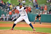 Northern Divisions pitcher Ramon Rosso (54) of the Lakewood BlueClaws delivers a pitch during the South Atlantic League All Star Game at First National Bank Field on June 19, 2018 in Greensboro, North Carolina. The game Southern Division defeated the Northern Division 9-5. (Tony Farlow/Four Seam Images)