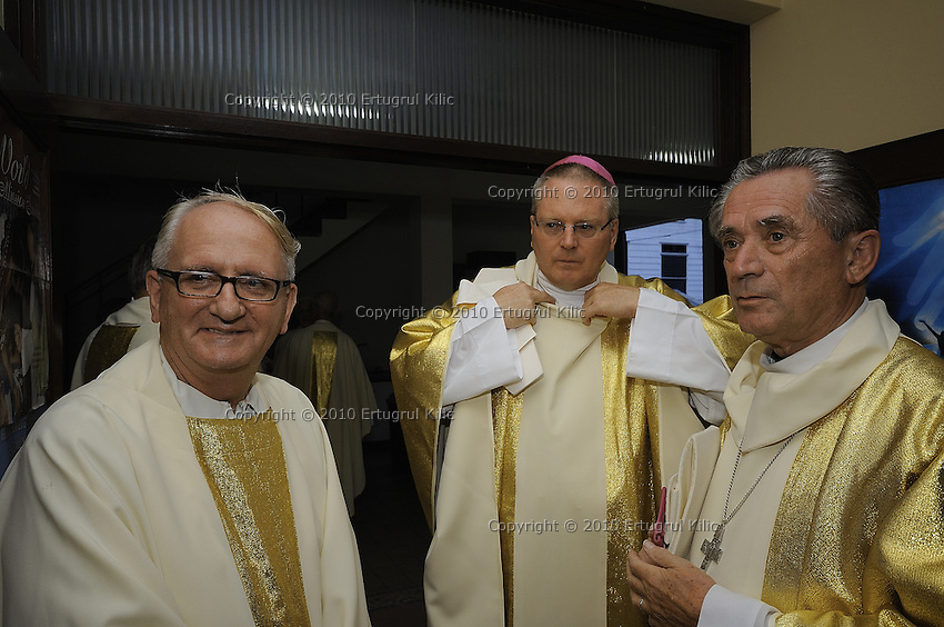 Chat between Bishops and a pastor while dressing and preparing for march to ST. Petrus and Paulus Cathedral.......Blessing and First Worship of ST. Petrus and Paulus Cathedral (AKA World's largest wooden cathedral)