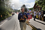 Republican nominee for secretary of state Jason Gibbs is seen campaigning in Jamaica Vermont during the Old Home Day celebration on July 31, 2010.