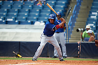 Camryn Williams (25) of Gaither High School in Odessa, Florida playing for the Texas Rangers scout team during the East Coast Pro Showcase on July 30, 2015 at George M. Steinbrenner Field in Tampa, Florida.  (Mike Janes/Four Seam Images)
