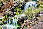 Man Made Waterfall in Back Yard.  Private garden professionally landscaped.