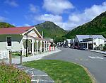 New Zealand, South Island, Arrowtown: View along Historic Main Street | Neuseeland, Suedinsel, Arrowtown: die historische Main Street