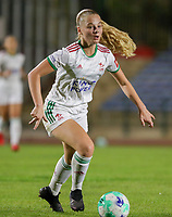 Tess Lameir (14) of OHL in action during a female soccer game between FC Femina White Star Woluwe and Oud Heverlee Leuven on the fourth matchday in the 2021 - 2022 season of Belgian Scooore Womens Super League , Friday 10 th of September 2021  in Woluwe , Belgium . PHOTO SPORTPIX   SEVIL OKTEM