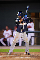 New Hampshire Fisher Cats catcher Wilkin Castillo (14) at bat during a game against the Harrisburg Senators on June 2, 2016 at FNB Field in Harrisburg, Pennsylvania.  New Hampshire defeated Harrisburg 2-1.  (Mike Janes/Four Seam Images)
