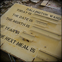 Patient information board for mental asylum ward