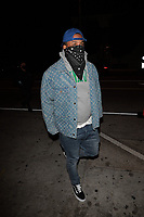 """Rapper """"The Game"""" Sports Black Mask Arriving At Catch In West Hollywood"""