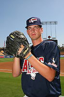 August 9 2008: Jacob Turner participates in the Aflac All American baseball game for incoming high school seniors at Dodger Stadium in Los Angeles,CA.  Photo by Larry Goren/Four Seam Images