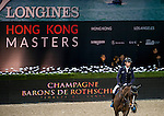 Denis Lynch of Ireland riding Quote Zavaan in action during the Hong Kong Jockey Club Trophy competition as part of the Longines Hong Kong Masters on 13 February 2015, at the Asia World Expo, outskirts Hong Kong, China. Photo by Li Man Yuen / Power Sport Images