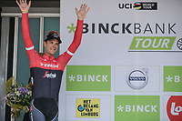 Stage winner Jasper Stuyven (BEL/Trek Segafredo) on the podium. <br /> <br /> Binckbank Tour 2017 (UCI World Tour)<br /> Stage 7: Essen (BE) > Geraardsbergen (BE) 191km