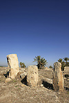Israel, Jezreel valley. Ruins from King Solomon's period in Tel Megiddo, a World Heritage Site