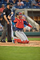 Jett Bandy (28) of the Nashville Sounds on defense against the Reno Aces at Greater Nevada Field on June 5, 2019 in Reno, Nevada. The Aces defeated the Sounds 3-2. (Stephen Smith/Four Seam Images)