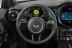 Car pictures of steering wheel view of a 2021 MINI Mini-Electric Cooper-SE-Edition-mosaert 3 Door Hatchback Steering Wheel