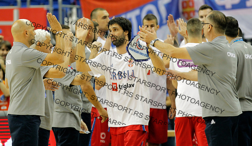 Milos Teodosic European championship group B basketball game between Spain and Serbia on 05. September 2015 in Berlin, Germany  (credit image & photo: Pedja Milosavljevic / STARSPORT)