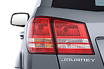 Tail light close up detail view of a 2009 Dodge Journey