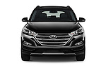 Car photography straight front view of a 2018 Hyundai Tucson Limited 5 Door Suv Front View