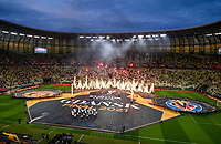 26th May 2021; STADION GDANSK  GDANSK, POLAND; UEFA EUROPA LEAGUE FINAL, Villarreal CF versus Manchester United:  The pre-game pyrotechnics
