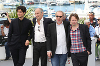 LOUIS GARREL, HIPPOLYTE GIRARDOT, DIRECTOR ARNAUD DESPLECHIN AND MATHIEU AMALRIC - PHOTOCALL OF THE FILM 'LES FANTOMES D'ISMAEL' AT THE 70TH FESTIVAL OF CANNES 2017