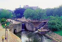 Ballparks: Akron--The Canal behind Canal Ballpark.
