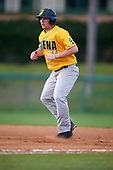 Siena Saints designated hitter Nico Ramos (44) leads off first base during a game against the Pittsburgh Panthers on February 24, 2017 at Historic Dodgertown in Vero Beach, Florida.  Pittsburgh defeated Siena 8-2.  (Mike Janes/Four Seam Images)