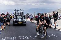 Joris Nieuwenhuis (NED/DSM) getting some (extra) fan support<br /> <br /> Stage 11 from Sorgues to Malaucène (198.9km)<br /> 108th Tour de France 2021 (2.UWT)<br /> <br /> ©kramon