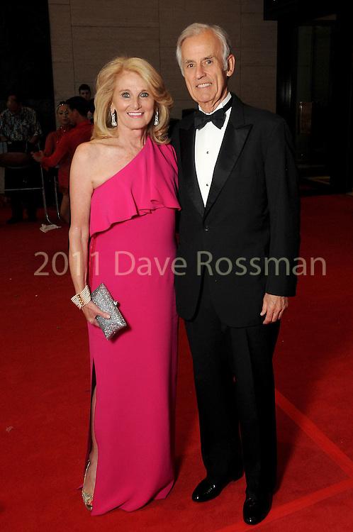 "Denise Monteleone and Jim Martin at the 2016 Houston Symphony Gala ""Carnaval"" at Jones Hall Saturday May 14,2016(Dave Rossman Photo)"