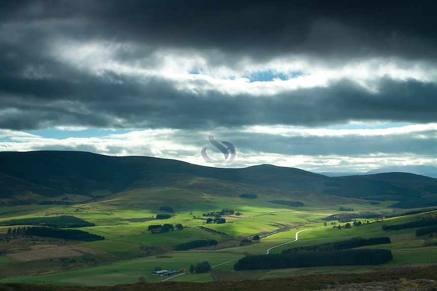 The Morayshire countryside from Ben Rinnes, Moray