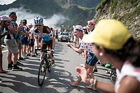 Alexis Vuillermoz (FRA/AG2R - La Mondiale) up the Tourmalet (HC/2115m/19km @7.4%)<br /> <br /> Stage 14: Tarbes to Tourmalet(117km)<br /> 106th Tour de France 2019 (2.UWT)<br /> <br /> ©kramon